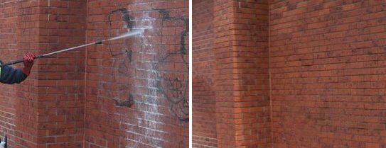 graffitirensning før og efter