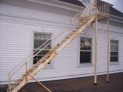 sandblæsning af trappe før billede